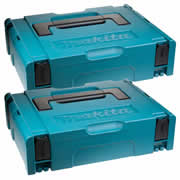 Makita 1427706PK2 Makita 1427706PK2 Small Makpac Stackable Case Twinpack (396 x 296 105mm)