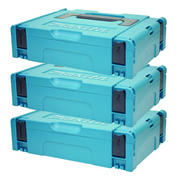 Makita 1427706PK3 Makita Small Stackable Case (396 x 296 x 105mm) - Pack of 3