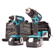 Makita 2KITMJ Makita 18v Li-ion Cordless 2 Piece Kit