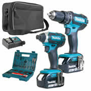 Makita 2SETTJ Makita 18v Li-ion 5.0Ah 2 Piece Kit