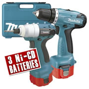 Makita 6271DP3ID Makita 12v Impact Driver & Drill Pack