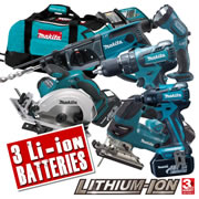 Makita 6BLKIT Makita 18v Lithium-ion LXT Brushless 6 Piece Kit
