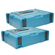 Makita 8215495PK2 Makita 8215495PK2 Small MakPac Stackable Case Twinpack (396 x 296 105mm)