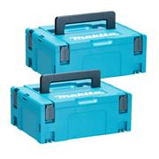 Makita 8215500PK2 Makita 8215500PK2 Medium MakPac Stackable Case Twinpack (396 x 296 157mm)