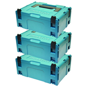 Makita 8215500PK3 Makita 8215500PK3 MakPac Medium Stackable Case (396 x 296 157mm) - Pack of 3