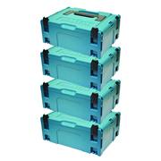 Makita 8215500PK4 Makita 8215500PK4 Medium MakPac Stackable Case (396 x 296 157mm) - Pack of 4