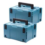 Makita 8215518PK2 Makita 8215518PK2 Large MakPac Stackable Case Twinpack (396 x 296 210mm)