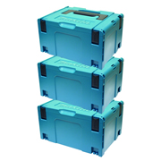 Makita 8215518PK3 Makita 8215518PK3 Large MakPac Stackable Case (396 x 296 210mm) - Pack of 3