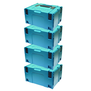 Makita 8215518PK4 Makita 8215518PK4 Large MakPak Stackable Case (396 x 296 210mm) - Pack of 4