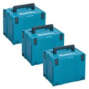 Makita 8215526PK3 Makita 8215526PK3 MakPac X-Large Stackable Case (396 x 296 315mm) - Pack of 3