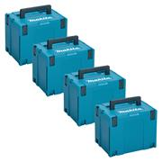 Makita 8215526PK4 Makita 8215526PK4 X-Large MakPac Stackable Case (396 x 296 315mm) - Pack of 4