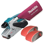 "Makita 9404PK Makita 4"" Belt Sander + Belt Package"