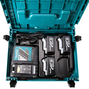 Makita 98C428 Makita 18v 3.0ah Battery Pack (3 x BL1830, DC18RC + Case)