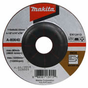 Makita A-80640 Makita 115mm INOX Grinding Disc