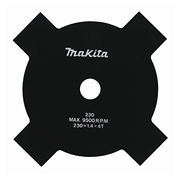 Makita 820.10.147 Makita Brushcutter Star Blade 230mm/9'' Diameter 4 Tooth