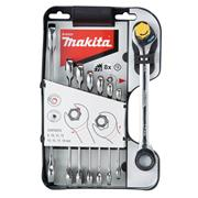 Makita B-65523 Double Ended Rachet Wrench - 8 Piece Set