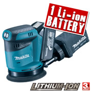 Makita BBO180ZBL 18v Li-ion 125mm Random Orbital Sander - Body + Battery