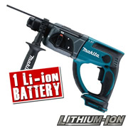Makita BHR202ZBL Makita 18v Li-ion SDS+ Drill Body + Battery