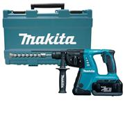 Makita BHR262RDE 36v (2 x 18v) LXT SDS+ Drill with 2 x 2.6Ah Batteries, Charger and Case