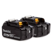 Makita BL1830B Makita 18v Li-ion 3.0Ah Battery with Indicator - Pack of 2