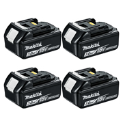 Makita BL1830B 18v Li-ion 3.0Ah Battery with Indicator - Pack of 4