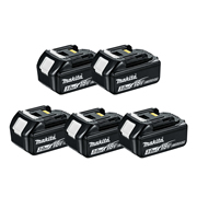 Makita BL1830B 18v Li-ion 3.0Ah Battery with Indicator - Pack of 5
