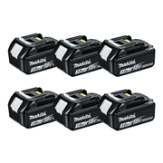 Makita BL1830B Makita 18v Li-ion 3.0Ah Battery with Indicator - Pack of 6