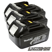 Makita BL1830-PK3 Makita Battery (18 Volt) 3.0Ah Li-ion (Triple Pack)