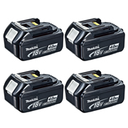 Makita BL1840BPK4 18v Li-ion 4.0ah Battery with Indicator - Pack of 4