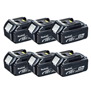 Makita BL1840BPK6 18v Li-ion 4.0ah Battery with Indicator - Pack of 6