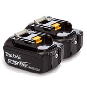 Makita BL1850B Makita 18v 5.0Ah Li-ion Battery with Battery Indicator - Pack of 2