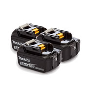 Makita BL1850B 18v Li-ion 5.0Ah Battery with Indicator - Pack of 3