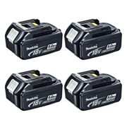 Makita BL1850B Makita 18v 5.0Ah Li-ion Battery with Indicator - Pack of 4