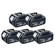 Makita BL1850B Makita 18v 5.0Ah Li-ion Battery with Indicator - Pack of 5