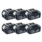 Makita BL1850B Makita 18v 5.0Ah Li-ion Battery with Indicator - Pack of 6