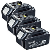 Makita BL1850-PK3 Makita 18v 5.0Ah Lithium-ion Battery - Pack of 3