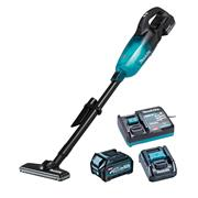 Makita CL001GD225 Makita CL001G 40V Max XGT Brushless Vacuum Cleaner, 1x 2.5Ah Battery, Battery Adaptor & Charger