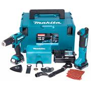 Makita CLX203AJX1 10.8v CXT 2 Piece Kit with 2 x 2Ah Batteries, Charger and Case