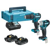 Makita CLX205AJ 10.8v CXT Brushless 2 Piece Kit with 2 x 2Ah Batteries, Charger and Case
