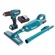 Makita CLX214X1 10.8v CXT 2 Piece Kit with 2 x 1.5Ah Batteries, Charger and Case