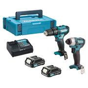 Makita CLX228AJ 10.8v CXT 2 Piece Kit with 2 x 2Ah Batteries, Charger and Case