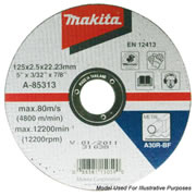"Makita D-18655 100mm (4"") Metal Cutting Disc"