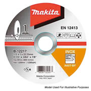"Makita D-18764 115mm (4.5"") Stainless Steel Cutting Disc"