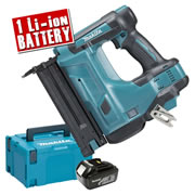 Makita DBN500ZJ3 Makita 18v Cordless Brad Nailer Body + 1 x 3.0Ah Battery