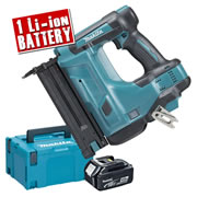 Makita DBN500ZJ4 Makita 18v Cordless Brad Nailer Body + 1 x 4.0Ah Battery