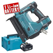 Makita DBN500ZJ5 Makita 18v Cordless Brad Nailer Body + 1 x 5.0Ah Battery