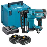 Makita DBN600RTJ 18v LXT 2nd Fix Nail Gun with 2 x 5Ah Batteries, Charger and Case