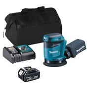 Makita DBO180ITS 18v LXT 125mm Sander with 1 x 3Ah Battery, Charger and Bag