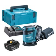 Makita DBO180RTJ Makita DBO180RTJ 18V LXT 125mm Sander with 2 x 5Ah Batteries, Charger and Case