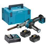 Makita DBS180 Makita 18v Brushless Belt Sander with 2x 5Ah Batteries, Charger and Case